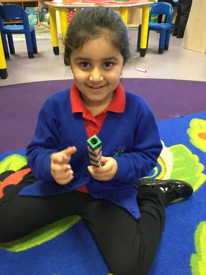 Look I've made a pattern using cubes