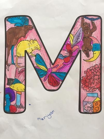 Mariyam's mindful colouring.
