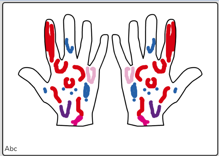 Louis mehndi hands