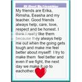 Rumeha's work about friendship.