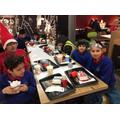 Enjoying our tea in McDonald's, Manchester.