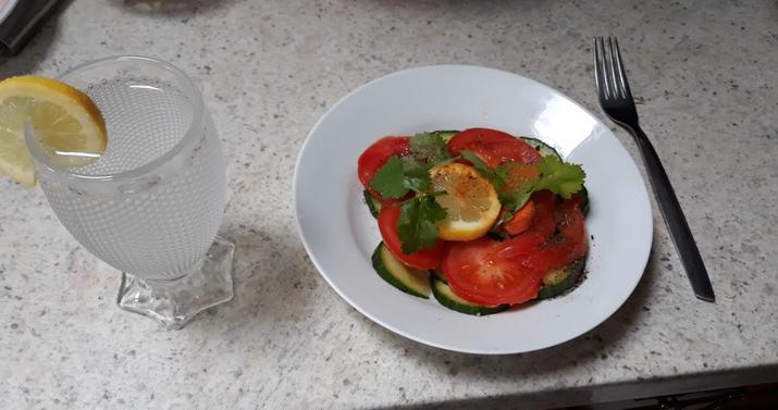 Laraib's healthy lunch.