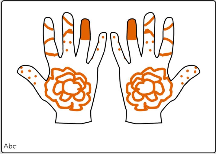 Nurul Jannah mehndi hands