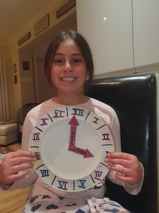 Aleena's Roman numerals clock