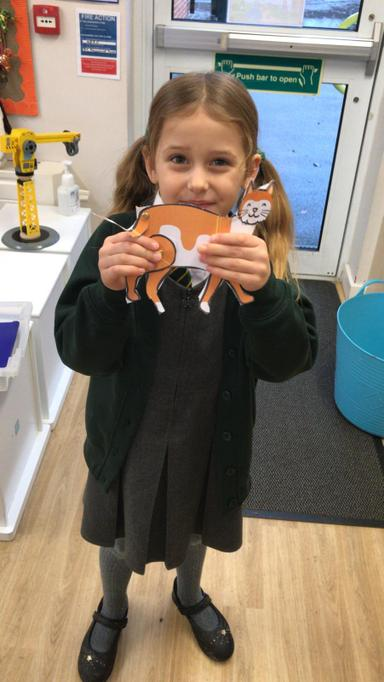We practised our cutting skills and made 'Split Pin Pets'.