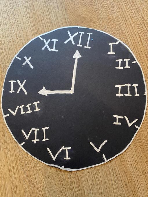 Amba's Roman numerals clock