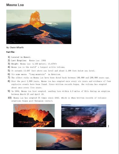 Owen's Mauna Loa Fact File