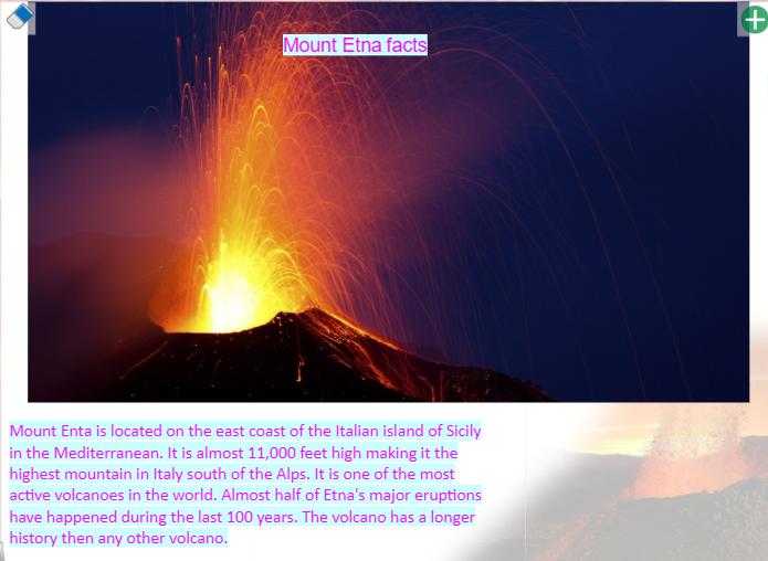 Emily T's Mount Etna Fact File