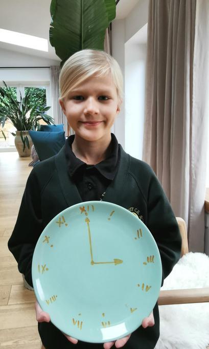 Amelia's Roman numerals clock