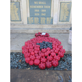 Holy Trinity's special poppy on the War Memorial
