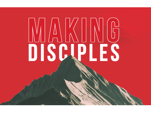 The Making Disciples logo showing a mountain peak on a red background