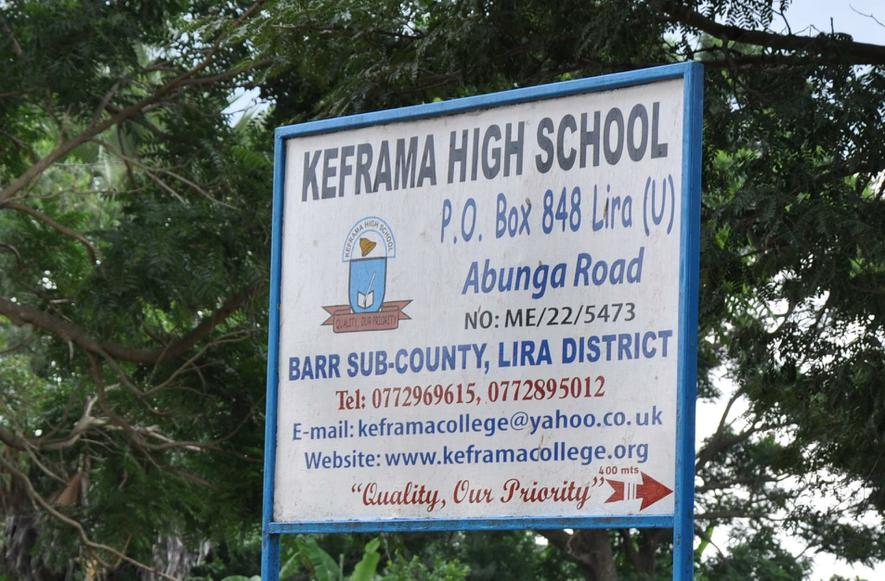 The Sign at the Entrance to the Keframa High School