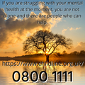 Childline poster with phone number 0800 1111