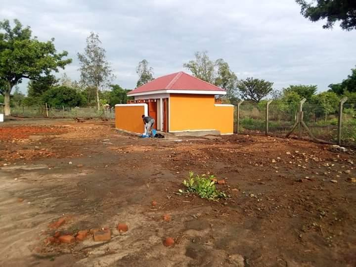 Latrine block with disabled access at the New Keframa High School