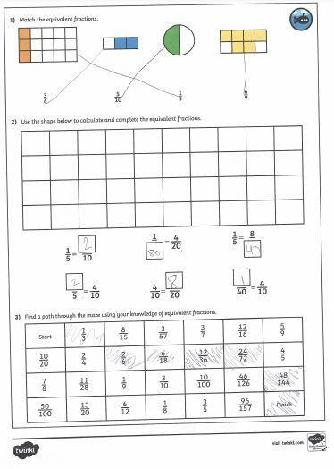 Kristin's fraction work.