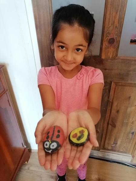 Shreeya Year 2 rock painting