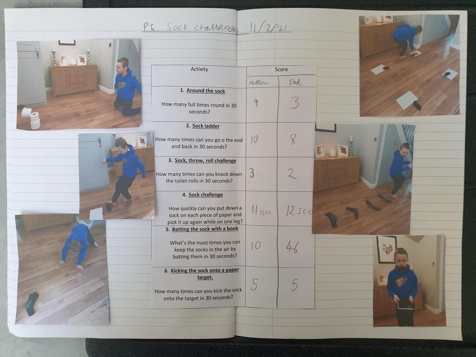 Matthew has been busy on the PE tasks.