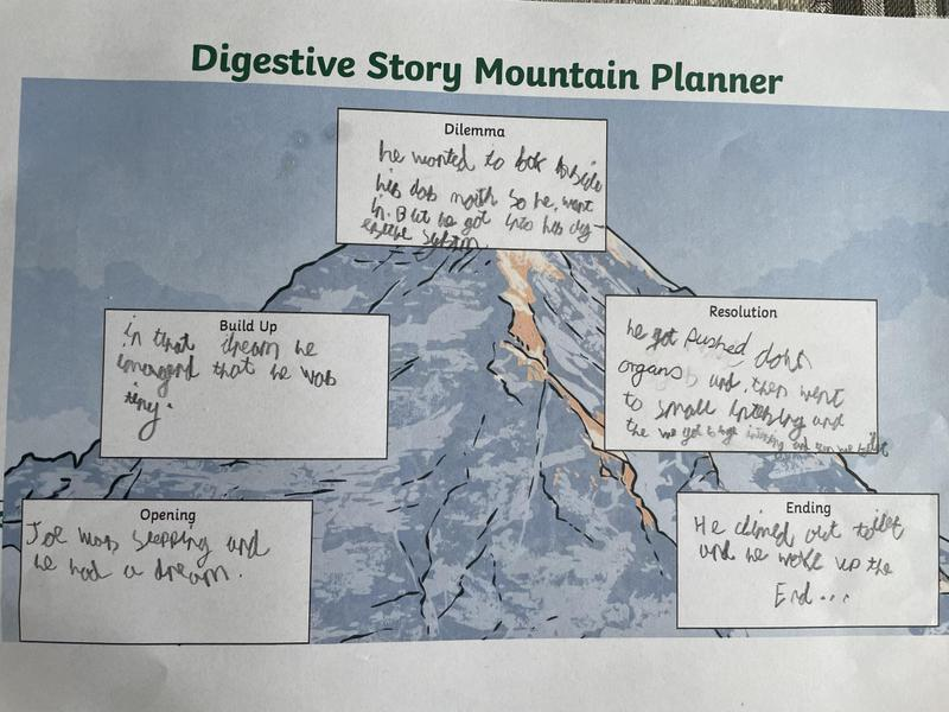 Reegan's story mountain.