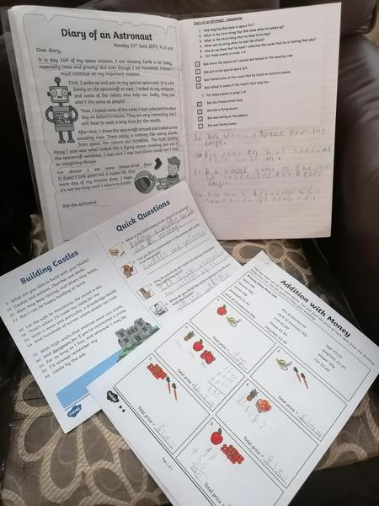 Shreeya Year 2 various home learning