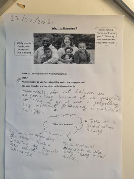 Freddie showed his learning about humanism