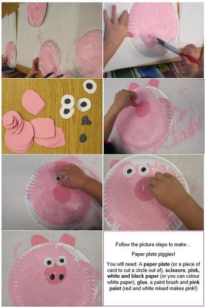 Send in pictures of your paper plate piggies to share with your friends!
