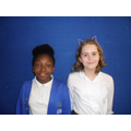 Nemi and Alexia supporting Year 1 RE lessons