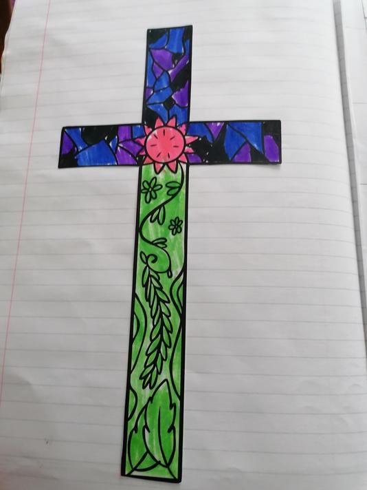 Shreeya Year 2 - Easter cross