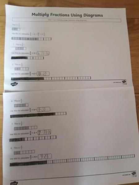 Shail Year 5 multiplying fractions
