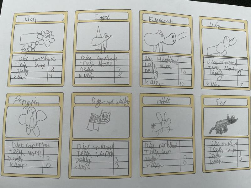 Check out Reegan's top trumps cards.