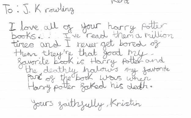 Kristin wrote a great letter.