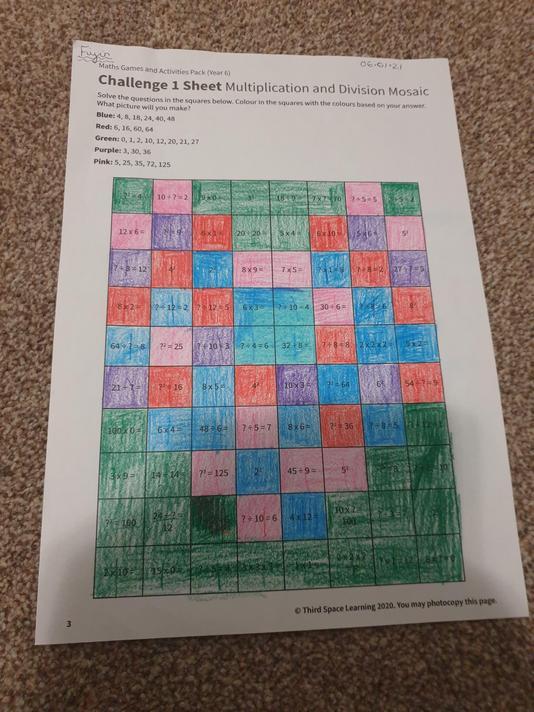 Fiyin's x-table Challenge
