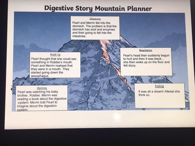 Coco has written a great story mountain.