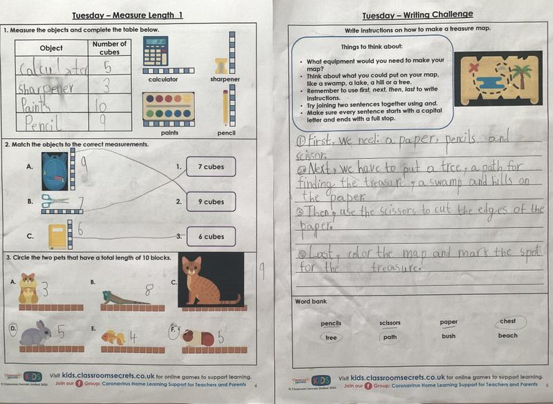 Akshara Year 1 English and Maths learning