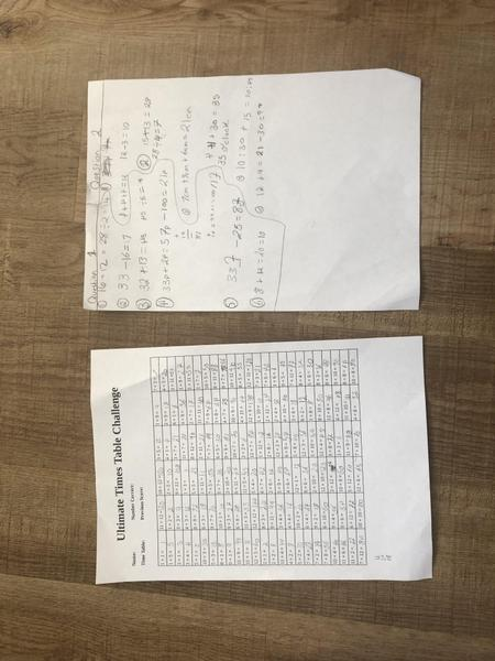 Brooke's Times Tables