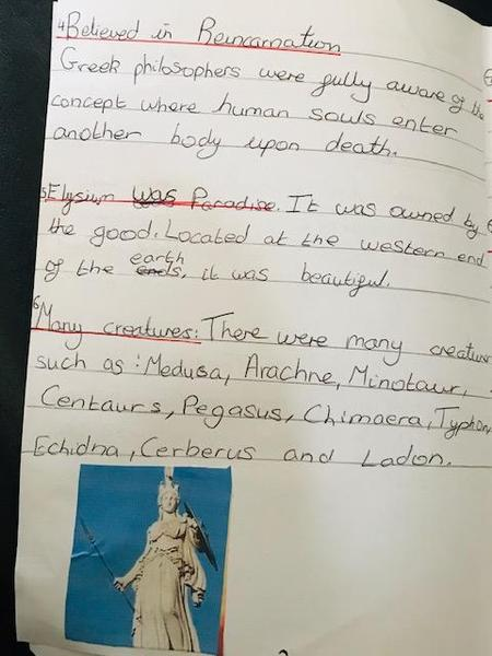 Kavena Year 6 Ancient Greece beliefs
