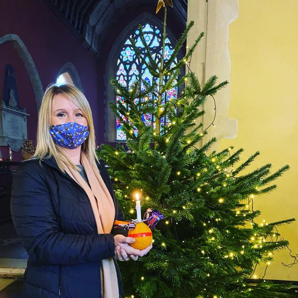 Mrs Wall & her Christingle