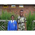 David and Noah supporting Year 5 RE lessons