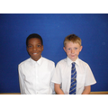Mofe and George supporting Year 2 RE lessons