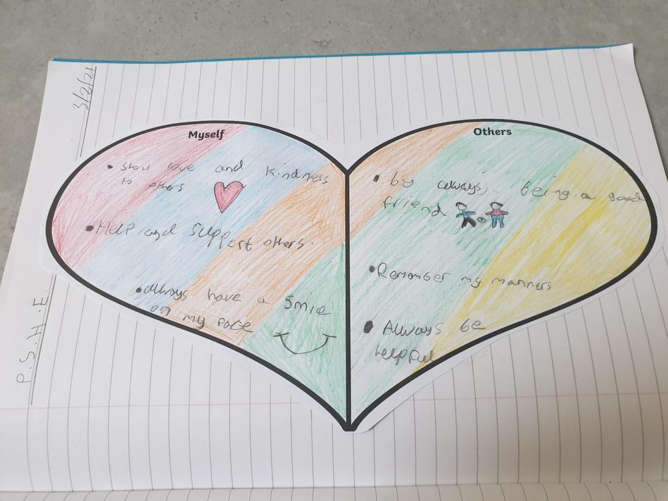 Matthew's colourful helping heart.