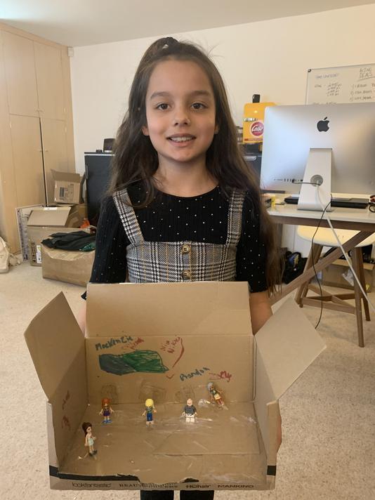Cleo's story scene in a box.