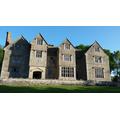 Wilderhope Manor in the sunshine at 7am