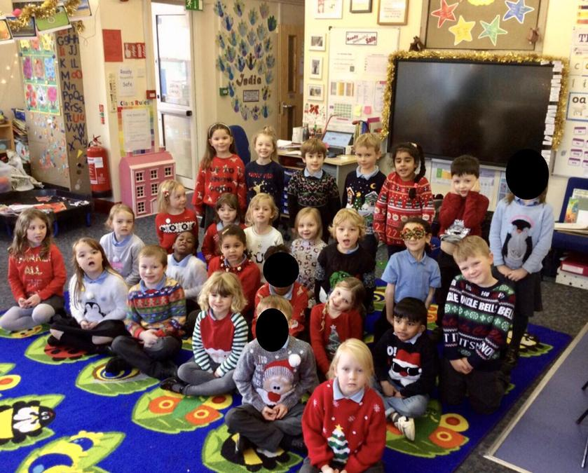 Year 1 looked fantastic in their Christmas jumpers!