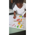 Chimamanda working on her maths.