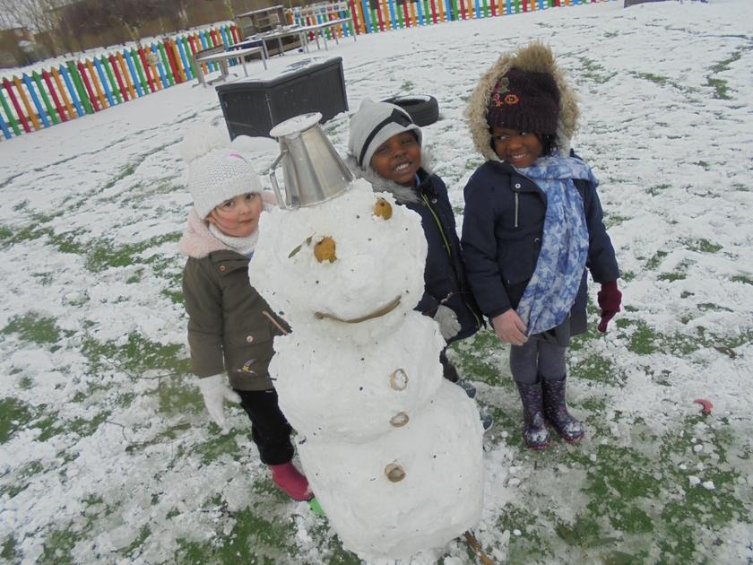 We are very proud of our Snowman