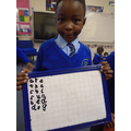 Writing the tricky words.