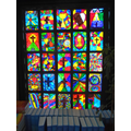 A stained-glass window on the theme of 'Unity.'