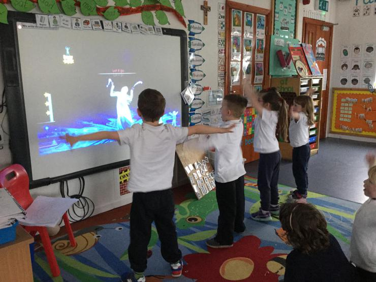 "On rainy days we like using ""just dance"" to practise our dancing skills. We have a mini competition each week for whoever gets the most moves right!"