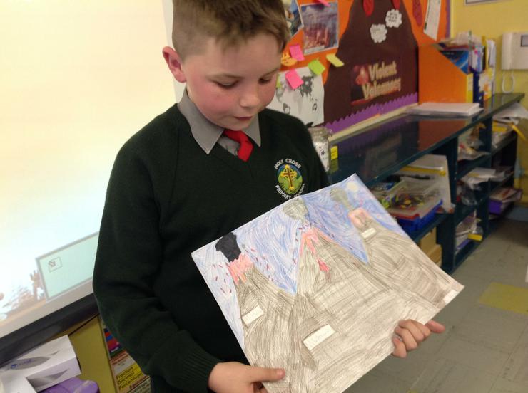 Blaine sharing his art work!