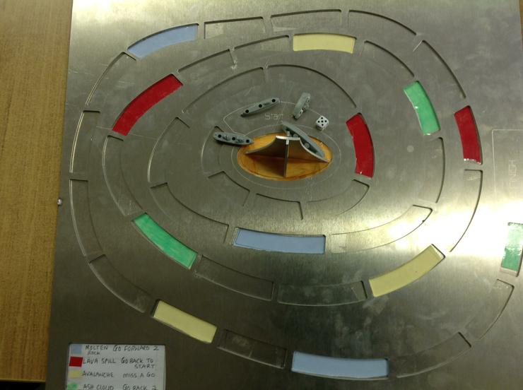 Birds eye view of Raymond's game