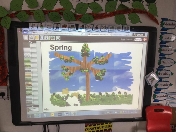 We used Purplemash to create our own Spring Picture. We loved the textured pens!